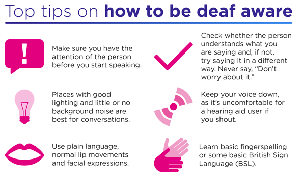 Top tips on how to be deaf aware